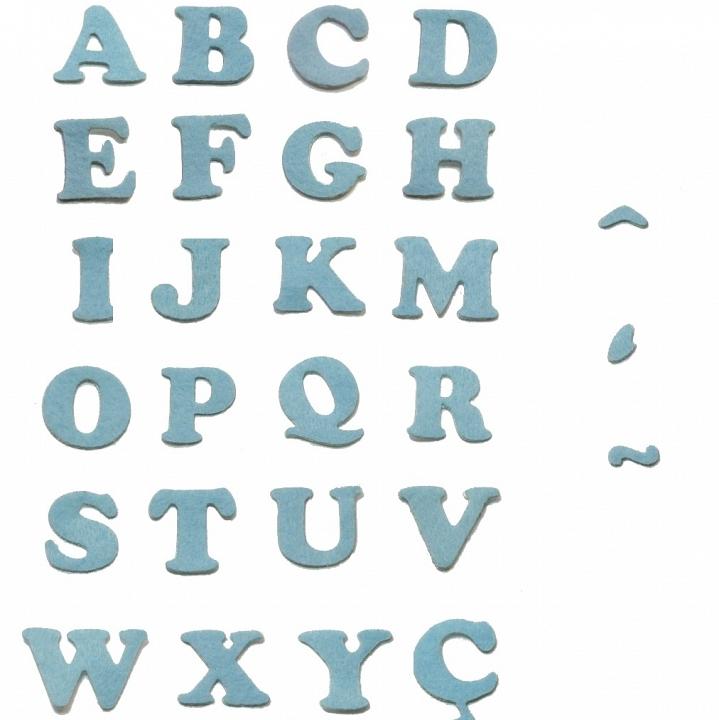 Artesanato Feltro Materiais ~ Papel Mais Artes Scrapbook& Personalizados Letra Alfabeto Adesivo Feltro Azul
